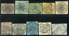 Papal State 1852 - lot of 10 stamps