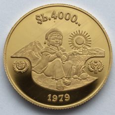 Bolivia - 4000 Pesos 1979 'Year of the Child' - Gold