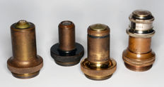 Antique microscope parts