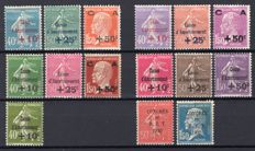 France 1927/1931 - set of Caisse d'Amortissement (Sinking Fund) stamps