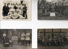 Rare collection of picture postcards Austria soldiers WW I period:1915-1918
