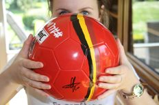 Soccer ball - Signed by Eden and Thorgan Hazard
