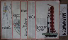 Lot with 6 XL space posters from the Apollo missions