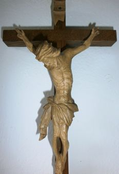 Very detailed hand-carved Crucifix