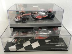 Minichamps - Scale 1/43 - Vodafone McLaren Mercedes 2-Car set - J. Button & H. Kovalainen - Limited Edition 1 of 1800 pieces