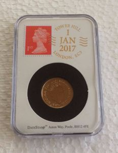 Great Britain - Sovereign 2017 'DateStamp slabbed' - Elizabeth II - gold