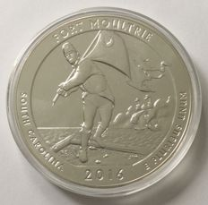 USA: 5 oz - America the Beautiful 2016 - Fort Moultrie