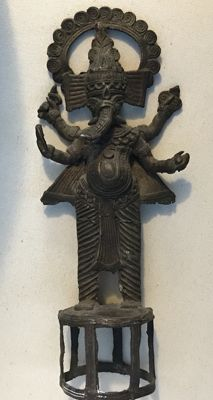 Tribal Dhokra bronze Ganesha - India - early 20th century