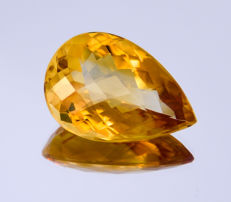 Citrine - Orangey - 17.22 ct - No reserve price