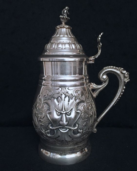 Silver tankard Florence (Italy), 20th century