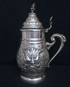 Silver tankard, Florence 20th century