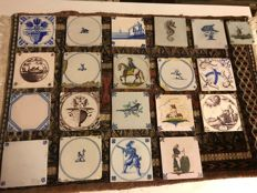 Collection of Hand-Painted Old Dutch Tiles