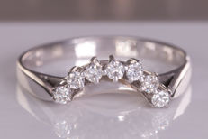 Stunning fine, diamond ring - Size: 54 - No Reserve price!