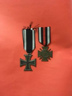 Iron cross 2nd class and the honor cross of the world war I