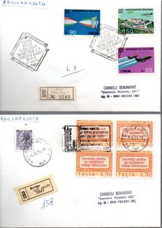 Italy, Republic, 1962/1992 – Collection of 250 first day envelopes, including 45 blocks of four and 4 registered