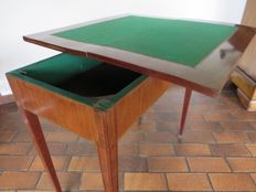 Gaming table in walnut - Louis 16 style - France - 1900