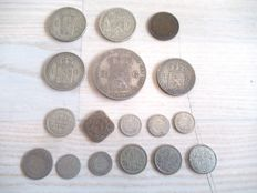 Netherlanda - 10 cent until 2½ gulden 1848/1928 Willem II, Willem III en Wilhelmina - mostly zilver
