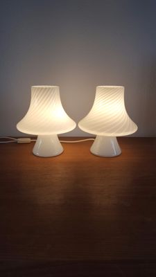 Unknown designer  – 2 Mushroom table lamps
