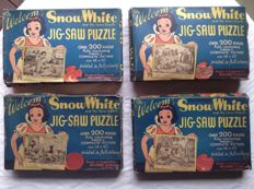 Disney, Walt - 4 Jig Saw Puzzles The Welcom - No. 2, 3, 7, 8 - Snow White and the seven Dwarfs (1940)