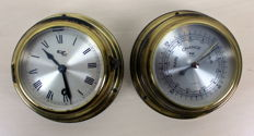 Navy and Observer Ship instruments, two pieces in brass