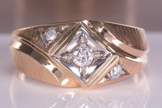 Magnificent fine, diamond  / brilliant ring - Size: 68 - No Reserve price!