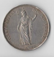 Provisional Government of Lombardy - 5 Lira 1848 - silver