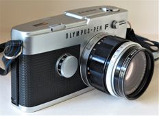 Olympus Pen-FT half frame SLR camera + 1.4 40mm  + reverse ring - around 1969