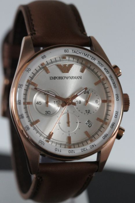 Emporio Armani AR 5995 Chronograph men's wristwatch - never worn