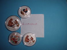 Australia - 1 Dollar & 2 Dollars 2016/2017 (4 pieces) Proof Colour - Silver