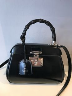 Gucci - Lady Lock Bamboo Top Handle Bag Leather Mini Bolso de mano
