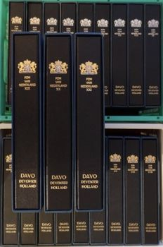 Accessories – 21 Davo albums for presentation packs: complete set numbered I to XXI