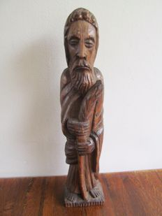 Old wood-carved Joseph statue - Spain - ca. 1900