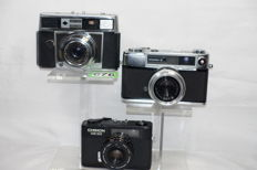 Chinon 35EE + Yashica Minister D + Agfa super silette LK cameras