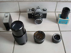Lot of camera, lenses and flash