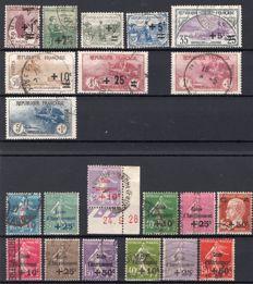 France 1922/1931 - Set of stamps - Orphans and Caisse d'Amortissement types.