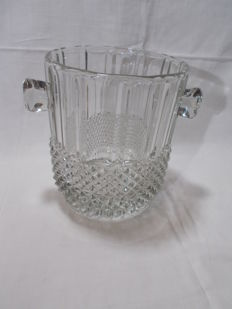 A large Champagne bucket in cut Bohemian crystal.