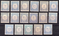 The Netherlands 1912/1920 - Postage Due - NVPH P44/P60
