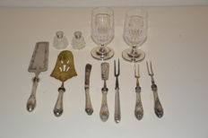 11 items table silver, several countries, 20th century