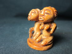 Antique Ivory Figurine - LUBA - D.R. Congo