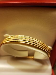 24K Pure Solid Yellow Chinese Gold Bangle