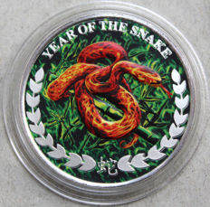 Somalia - 1000 Shillings 2013 'Year of the Snake' colorized - 1 oz silber