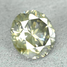 NO RESERVE PRICE - Diamond 1.33 ct Natural Fancy Greenish Yellow I1