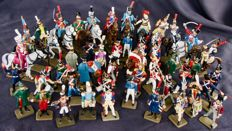 "Collection of 13 Horsemen and 33 soldiers, ""Starlux"" Empire, regiments France Napoleon, 2001"