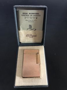 Gold plated Dupont lighter, 18 carats, silversmiths in Paris