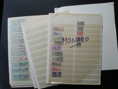 Europe - duplication batch with Luxembourg, Liechtenstein and Monaco on stock book pages