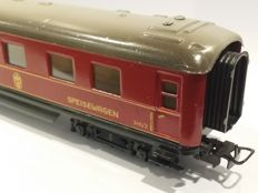 Märklin H0 - 346/2(4008) - Dining carriage of the DSG with metal bogies