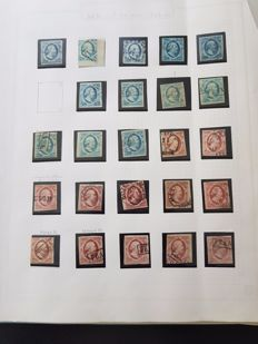 The Netherlands 1852 - Collection first emission, incl. with circular cancellations
