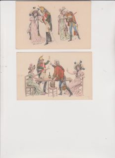 Great batch of 80 old postcards, very beautiful fantasy cards
