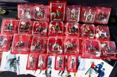 "Collection of 20 Horsemen and 4 soldiers, ""Delprado"" Empire, regiments France Napoleon, 2008"