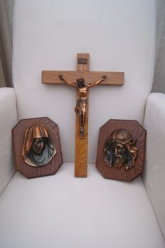 Wonderful triptych Christ and Mary